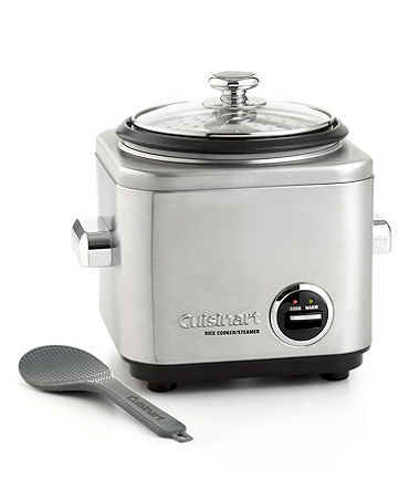 Most of the world can't be wrong – rice is an important part of almost any meal. Cuisinart's versatile rice cooker prepares every grain with care, and also steams healthy, hearty meat and vegetables t