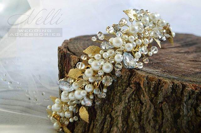 94 отметок «Нравится», 2 комментариев — Hand Made ☆ Ручная работа ✂️ (@hm_mir_hm) в Instagram: «™@Nelli_wedding_accessories Ободок ручной работы👏💖 Жемчужные, хрустальные бусины, золотистая…»