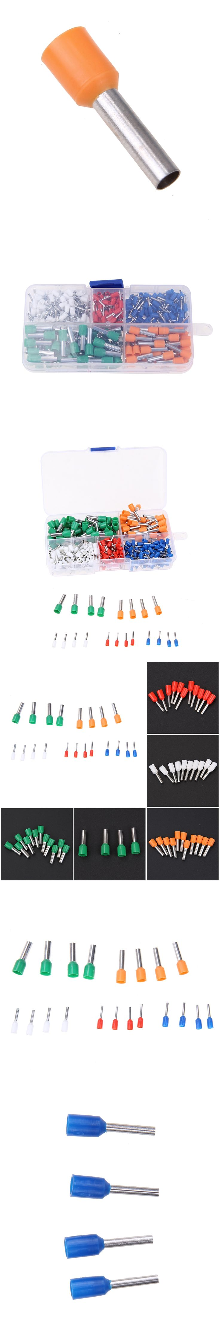 400pcs Wire Copper Crimp Connector Kit Insulated Cord End Pin Electrical Crimp Terminal Bootlace Cooper Ferrules Set 22-10AWG