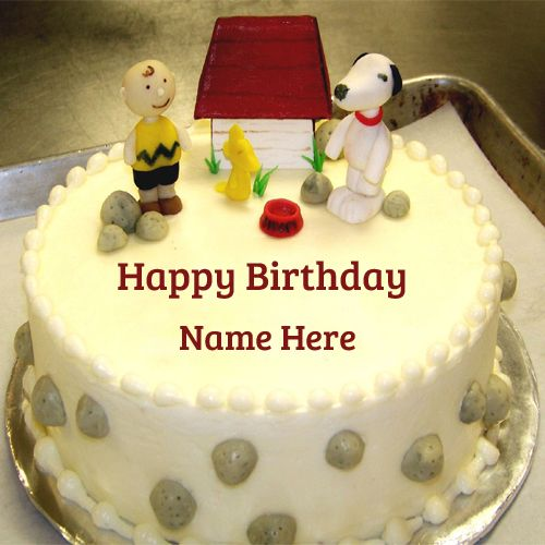 Images Of Birthday Cake With Edit Name : Happy Birthday Dear Friend Special Cake With Your Name ...