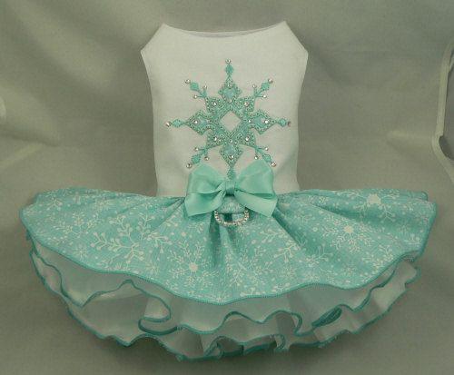 Vestido de perro. Copo de nieve de cristal por Poshdog. por poshdog                                                                                                                                                     Más