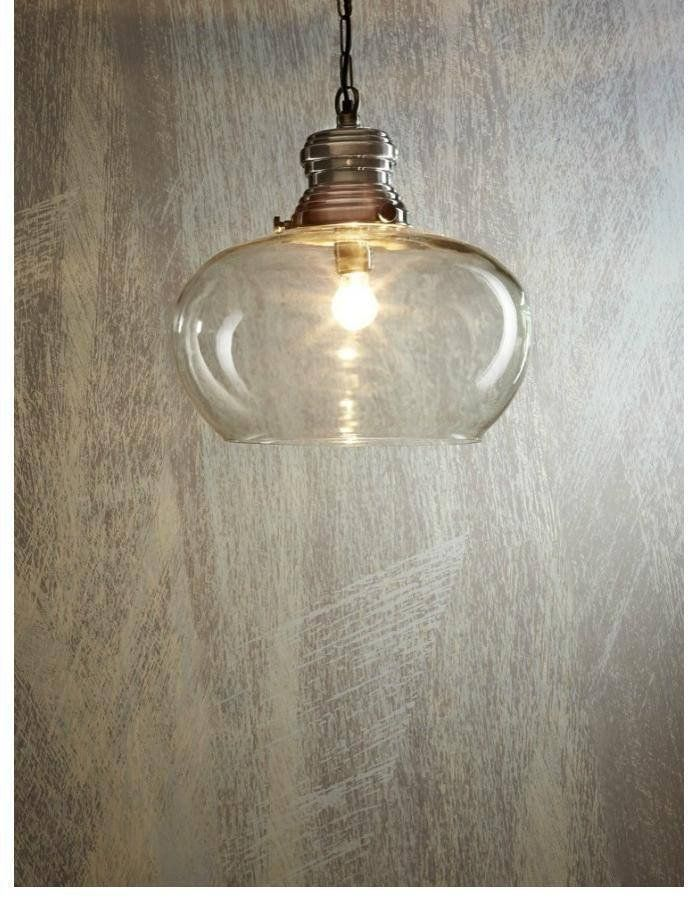 Paddington Large Pendant Light  The Paddington Large Pendant Light features a large glass bowl like shade.