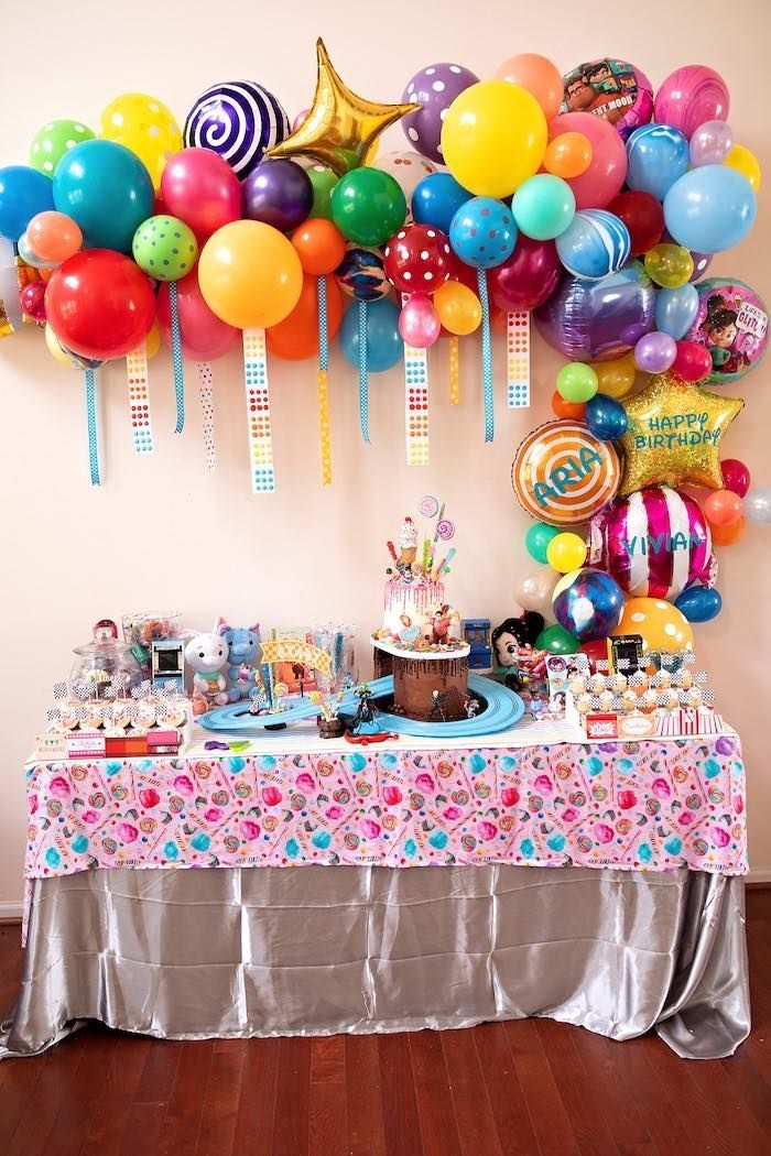 Wreck It Ralph Birthday Party Candy Theme Birthday Party