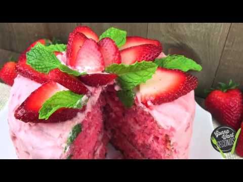 Strawberry Triple Layer Cake - Gonna Want Seconds