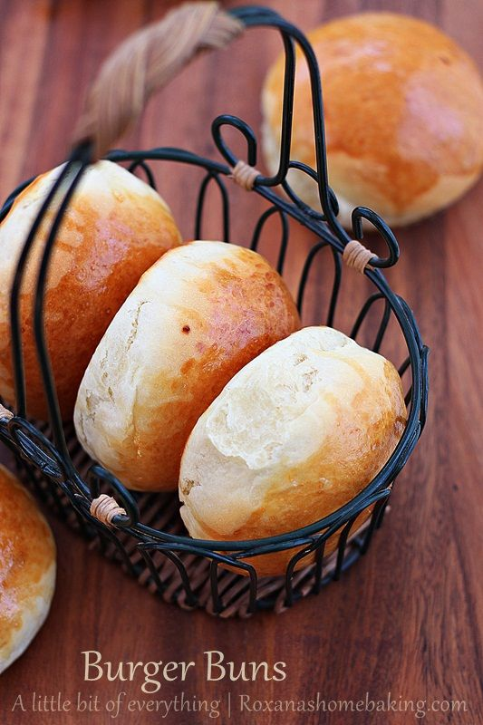 Homemade Burger Buns- Except the fact that these burger buns are so easy to make and the recipe is foolproof, you can make them in advance, pop them in the freezer and take them out when you unexpectedly decide it's grilling time!     http://www.roxanashomebaking.com/homemade-burger-buns-recipe/#