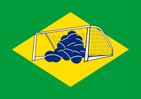 haha! just came across this one.. The New Brazilian flag #BRA #GER #worldcup2014 #annihilation
