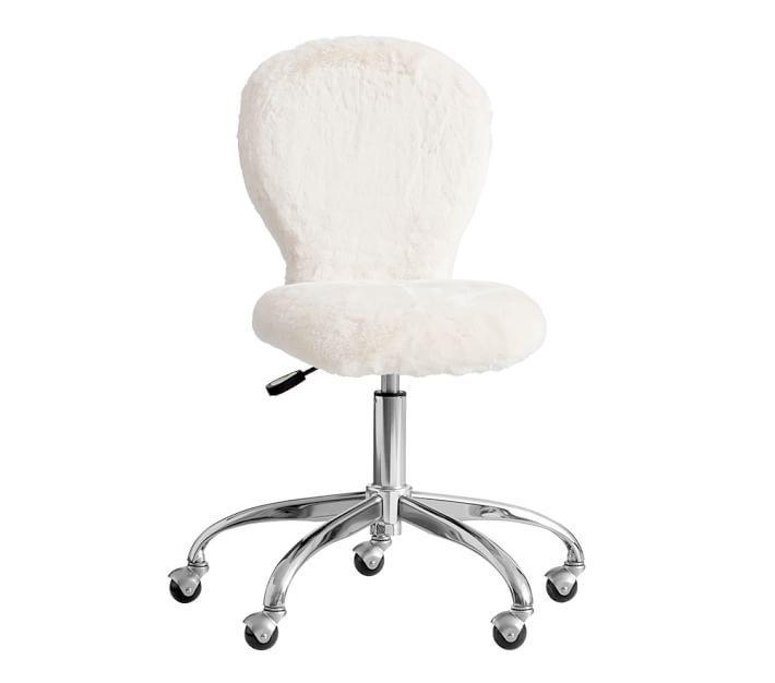 round upholstered desk chair brushed nickel base pottery barn kids