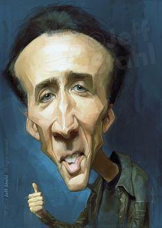 Nicolas Cage, by Jeff Stahl by JeffStahl on deviantART
