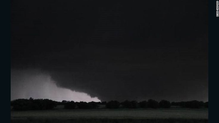 A possible tornado ominously scrapes the ground in Texas.