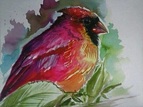 #watercolor Bird Painting By Leo C.