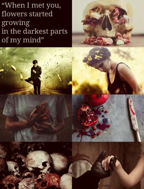 so-many-aesthetics:  Mythology and Literature Aesthetics Hades and Persephone - Greek Mythology    Tell me losing everything is what saved you.Tell me you finally tasted freedom. Don't lie. I see it in your eyes. Women lie to their mothers. Women do not know how to use their own voices and resort to things deeper. Don't lie to me. Tell me you loved to destroy. Tell me you need me. Please. You are the bones of my spine. You are the ground beneath my feet. You are made of deeper stuff than…