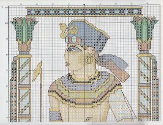 GRAFICOS PUNTO DE CRUZ GRATIS : EGIPTO(14)