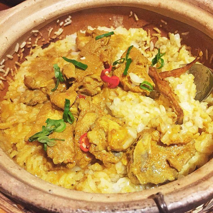 Chicken curry rice #claypot