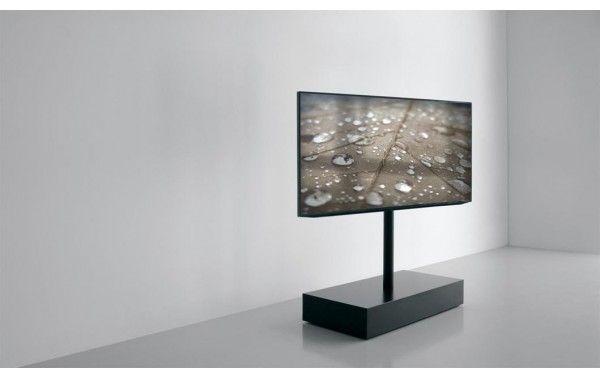 TV support column with flap door extendo