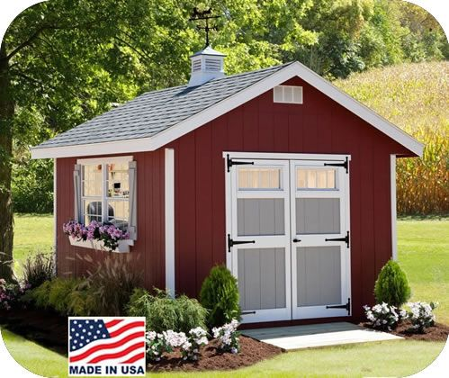 EZ-Fit Homestead 8x10 Wood Storage Shed Kit. $2100