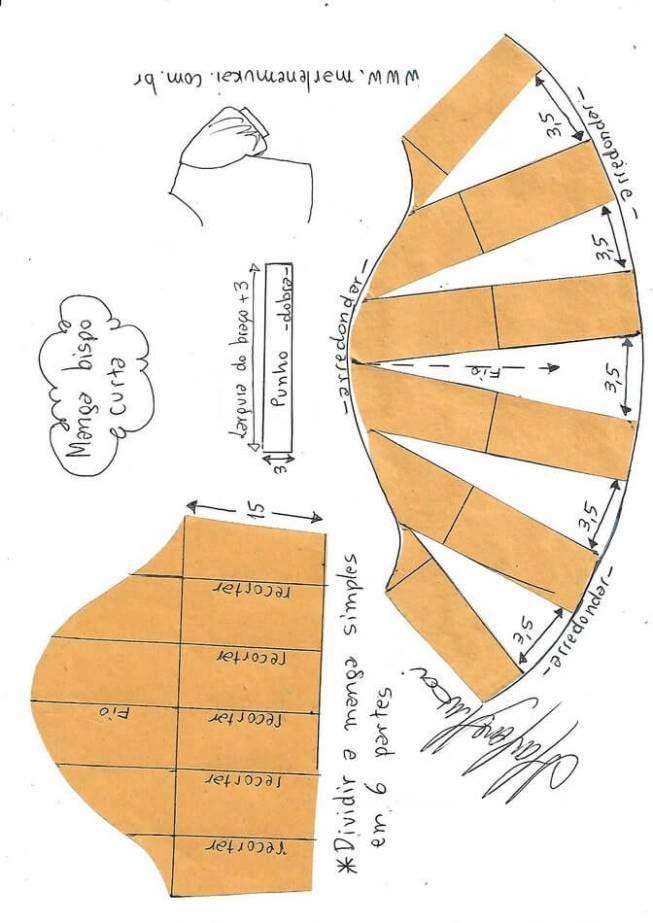 Formas de transformar el patrón para las mangas   patrones   Sewing ...