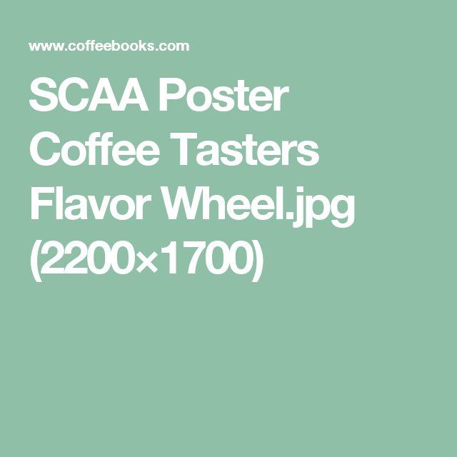 SCAA Poster Coffee Tasters Flavor Wheel.jpg (2200×1700)