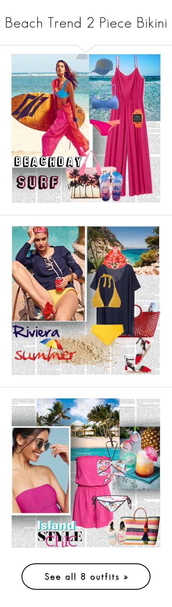 """Beach Trend 2 Piece Bikini"" by stylepersonal ❤ liked on Polyvore featuring Elora, Samudra, Rip Curl, Victoria's Secret, Billabong, Vestal, Havaianas, beachday, Mark & Graham and Iris & Ink"