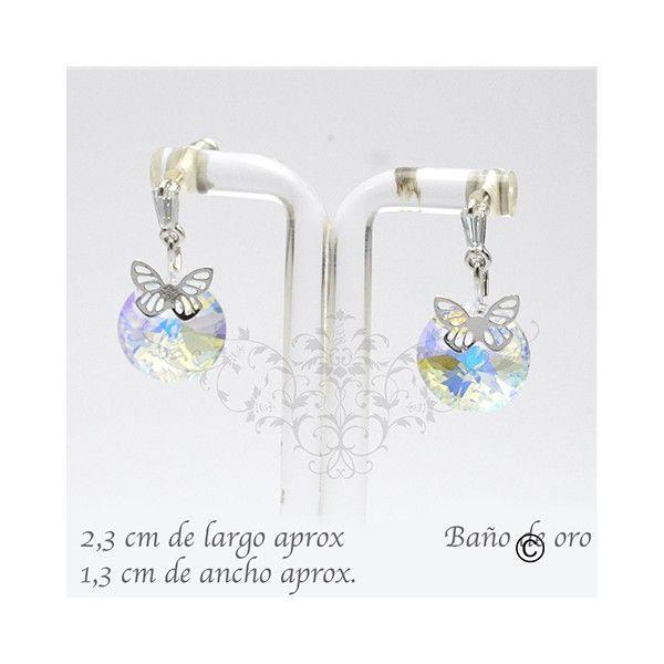 BER_0024 aros con cristal y baño de oro