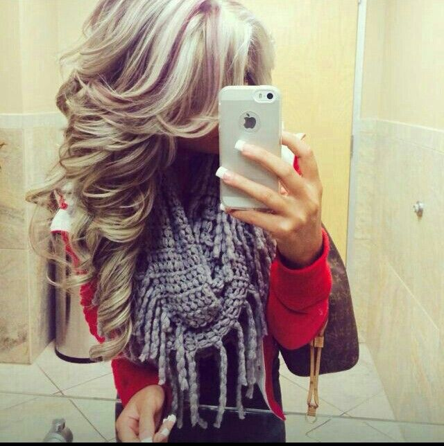 Blonde hair red lowlights ♥ blowout | Hair colors I wanna ...
