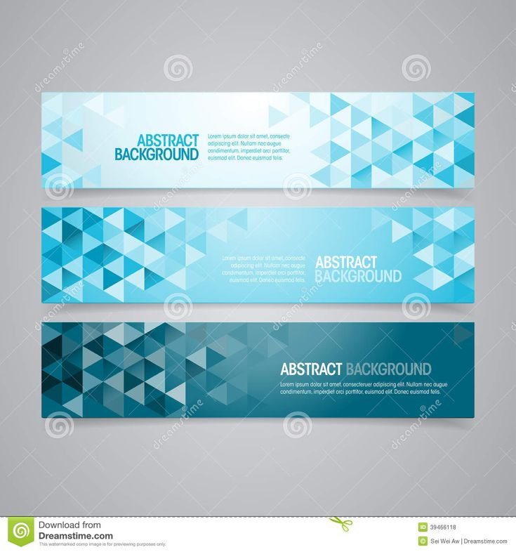 Abstract Geometric Banners Stock Vector - Image: 39466118