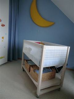 Lovely baby cot out of IVAR instead of BabyBay perhaps