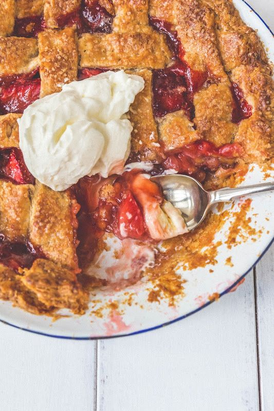 Strawberry, Ginger and Honey Pie with Golden Spelt Crust