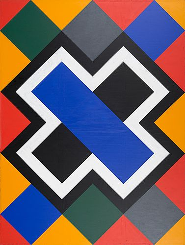 Paul Osipow: Paradise view VII, 1989, akryyli kankaalle 256x192 cm - Bukowskis Contemporary March 2016