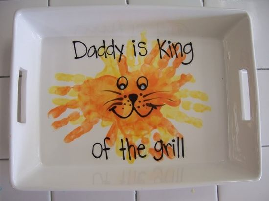 Father's Day - Kids hand-prints baked into a dish for Dad.