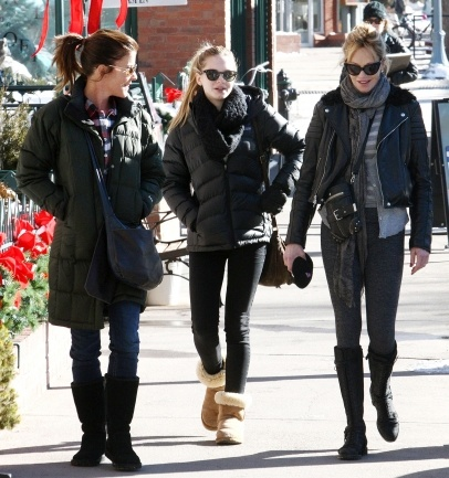 Melanie Griffith and daugther out and about in Aspen, Colorado.