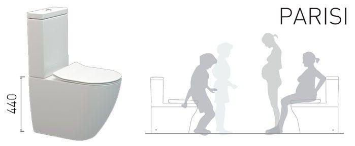 Parisi Ellisse Overheight Toilets