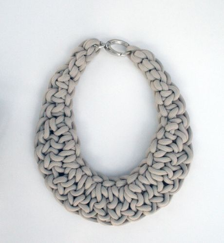 hand made necklace realized with sailing rope  colors: black, grey, navy, natural, red