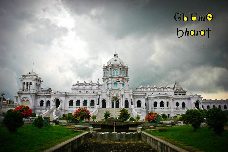 Location : Ujjayanta Palace, Tripura   The Ujjayanta Palace is a former royal palace situated in Agartala, the capital of the Indian state of Tripura, and also served as the meeting place of the Tripura Legislative Assembly until 2011 and now a museum.