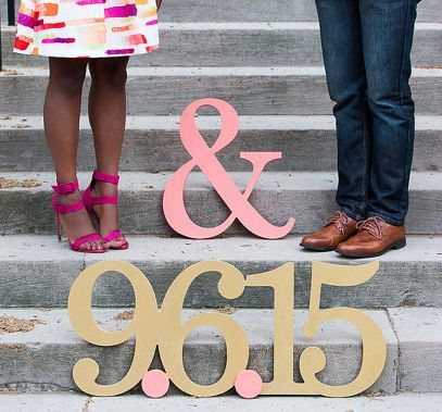 large date engagement props