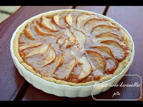 Körtés-túrós-karamellás pite / Pear-cottage cheese-caramel pie (with English subtitle) - YouTube