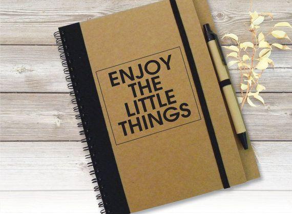 Customized Lists Notebook Journal, Enjoy the Little Things Journal, To Do List Notebook, PersonaGift, Spiral Notebook, Personal Notepad