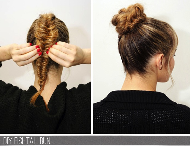 Fishtail to bun.