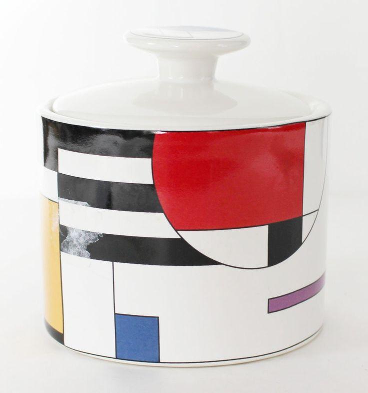 Sango Dinnerware Radius Sugar Bowl Dish 4915-20 Ceramic or Porcelain Geometrc #Sango