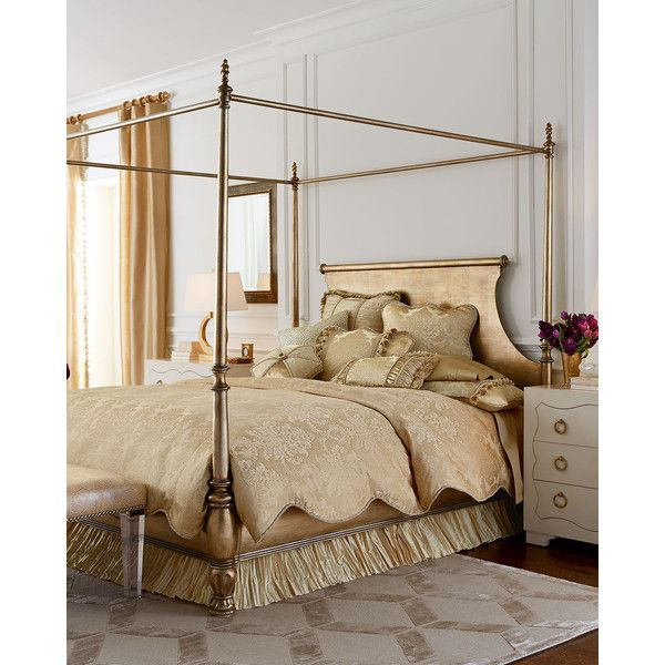 Horchow Caterina Queen Canopy Bedroom Set Liked On Polyvore Featuring Home Canopy Bedroom Setsking Size