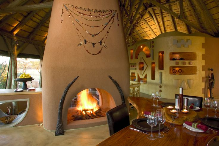 When the temperature drops, a cosy log fire awaits you at dinner in your own private bush suite. http://okonjima.com/content/The_Select_Private_Bush_Suite