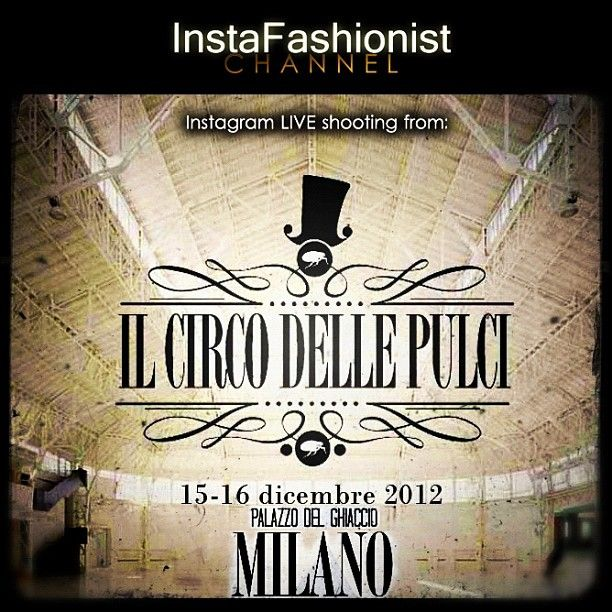 Save the date! 15-16 December INSTAFASHIONIST Channel & OH,NO!JOHN! are glad to present you the Instagram LIVE shooting from 'CIRCO delle PULCI' Xmas edition!Palazzo del Ghiaccio, MILANO! #instafashionist #circodellepulci #milano #event #igersmilano #fashion #instagramers #fashionblogger #trendy #fashionstyle #style #fashionphotography #fashionoftheday #fashionistas #weheartit #instafashion #instacool #instalove #igfashion #fashionable #cool #streetfashion #iphonephotooftheday #instastyle