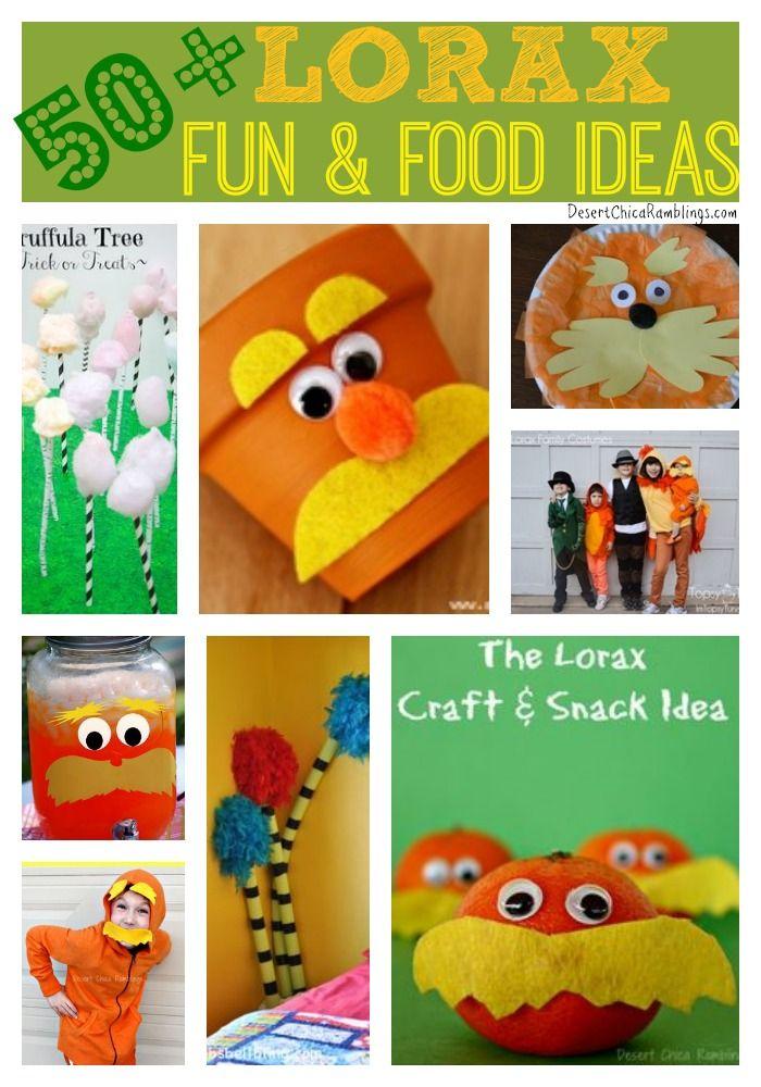 50+ Lorax ideas! Super cute Ideas for the classroom!!