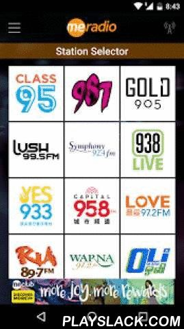 MeRadio  Android App - playslack.com ,  The app that connects you to all 13 Mediacorp radio stations, trending entertainment news and the latest LIVE gigs! Choose from these stations to listen LIVE: - Class 95FM- Gold 90.5FM- 987- YES 933- Love 97.2FM- 938LIVE- Ria 89.7FM- Oli 96.8FM- Lush 99.5FM- Capital 95.8FM- Warner 94.2FM- XFM 96.3- Symphony 92.4FM De app die u verbindt met alle 13 Mediacorp radiostations, trending nieuws en de laatste optredens!U kunt kiezen uit deze stations LIVE…