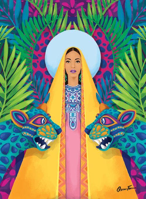 "Oscar Torres,Virgen Santa,""Francisca"", 2014"