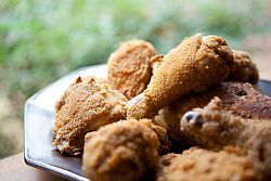 yes, there is a good way to fry chicken... coconut oil and almond meal crumbs :)