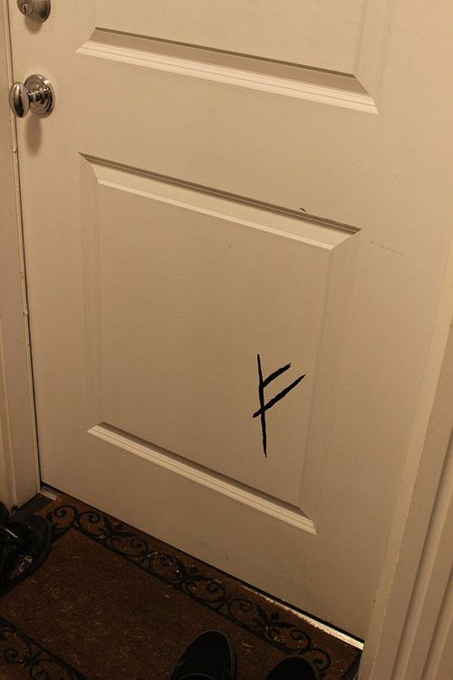 Gandalf's mark on the front door...