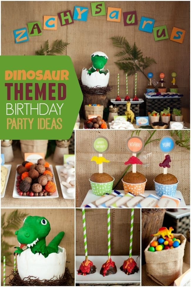 Dinosaur Themed Boy's Birthday Party Ideas