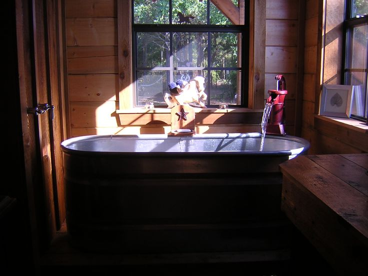 We Used A 6 Horse Trough As Our Tub In The Master Bath
