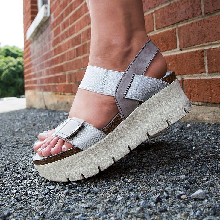 NOVA in SILVER Wedge Sandals   Silver