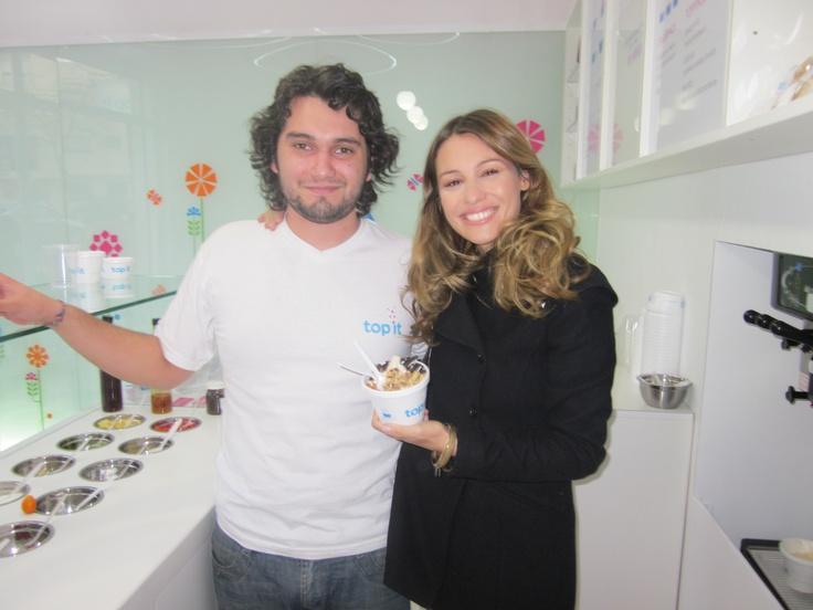 Pampita, modelo, nos vino a visitar a Top It en Palermo